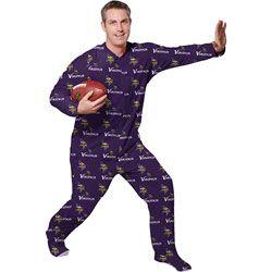 Minnesota Vikings Purple Adult One-Piece   Mansie   Footie Pajama Suit http b659e4c2d