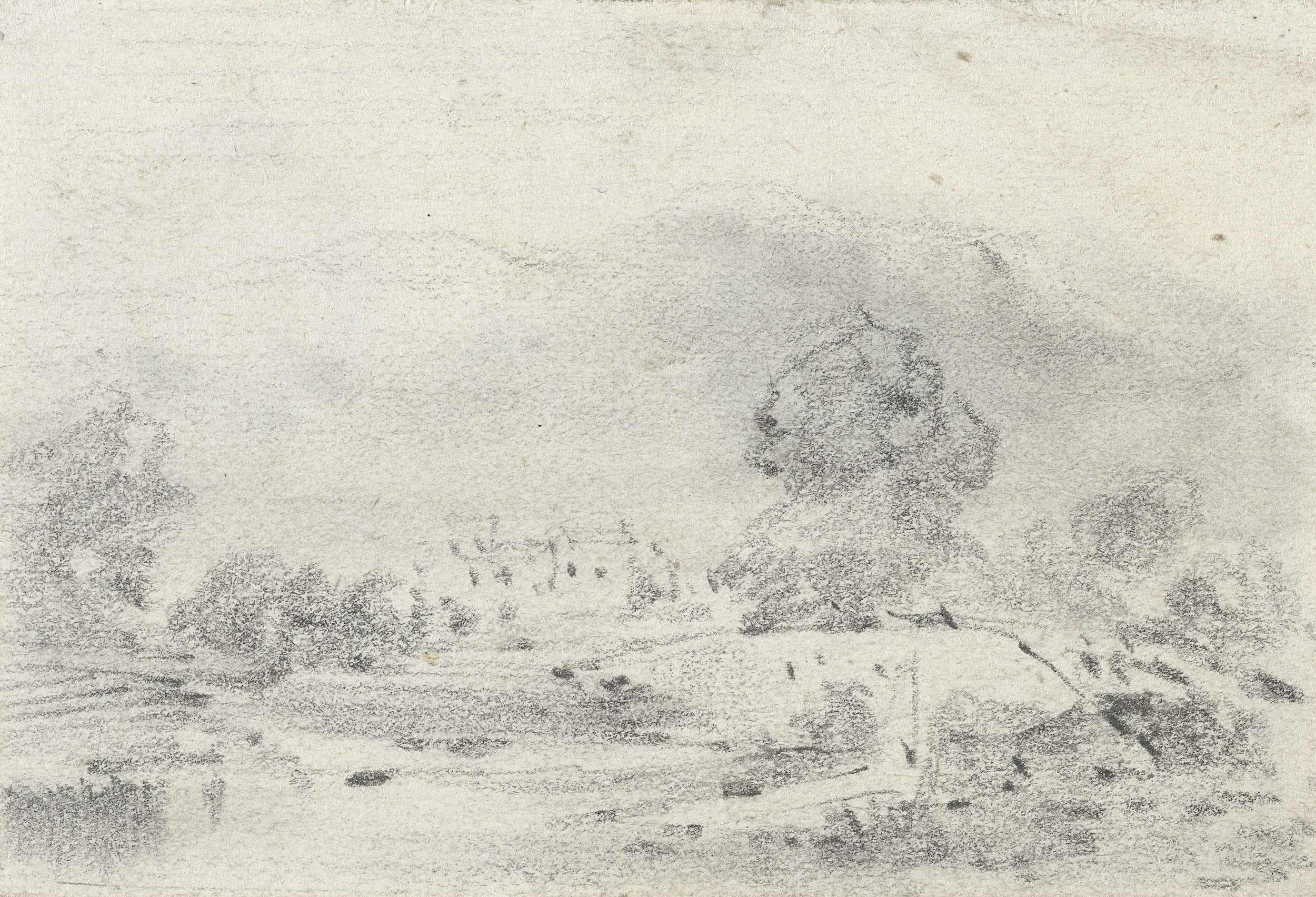 Maxime François Antoine Lalanne | Landschap met brug, Maxime François Antoine Lalanne, 1837 - 1886 |