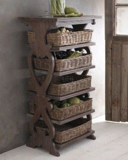 Basket Etagere Great Idea For Fruits And Vegetables Found At