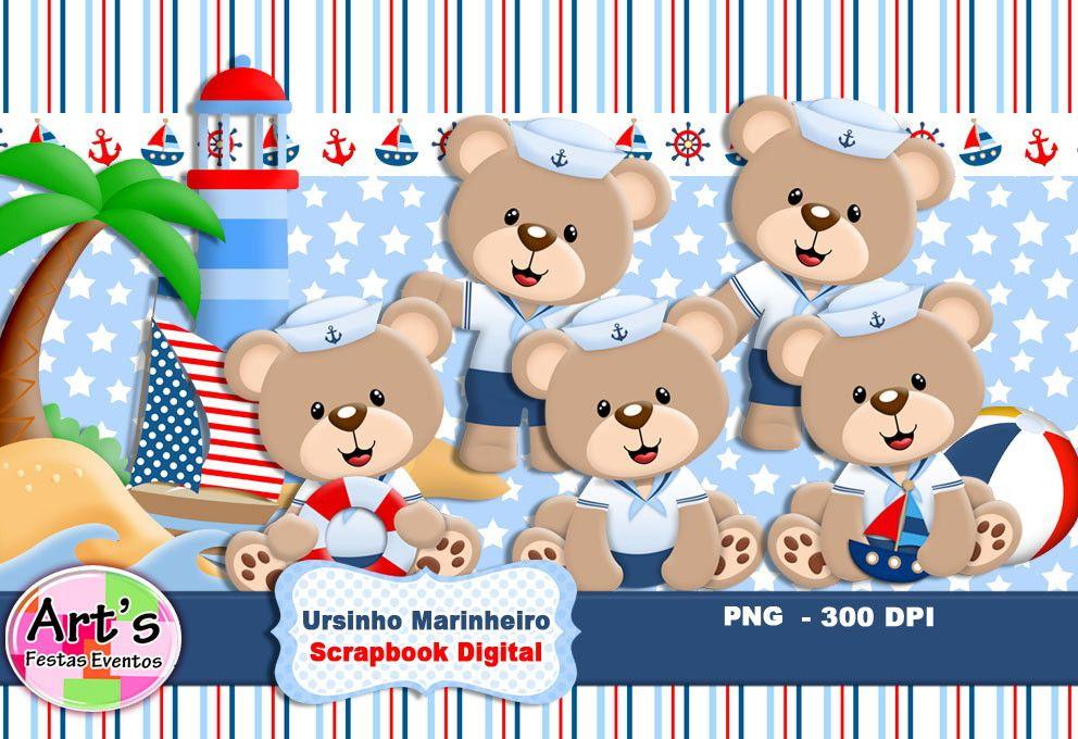 Kit Scrapbook Digital URSINHO MARINHEIRO    Kit Digital composto por elementos PNG e Papéis Digitais em Jpeg  Alta resolução (300 bpi).    -------------------------------------------------       Armazenamento em nuvem  ***Dropbox***    envio de link para downloads,  clique em baixar direto.    At...