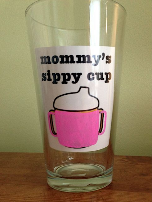 The Pursuit of Happiness: DIY Painted Beer Glasses (Mommy's Sippy Cup!)