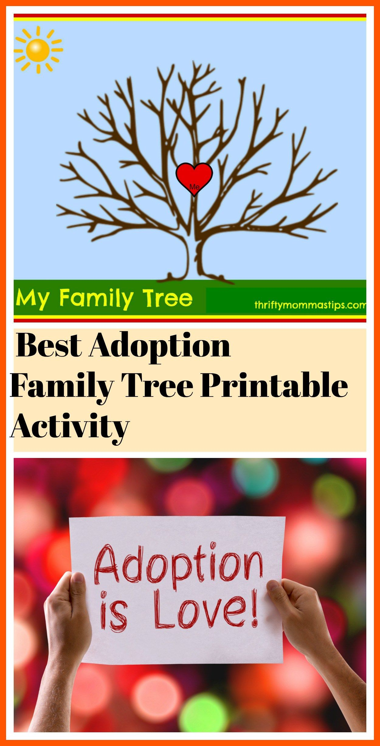 Adoption And Family Tree Free Printable Adoption