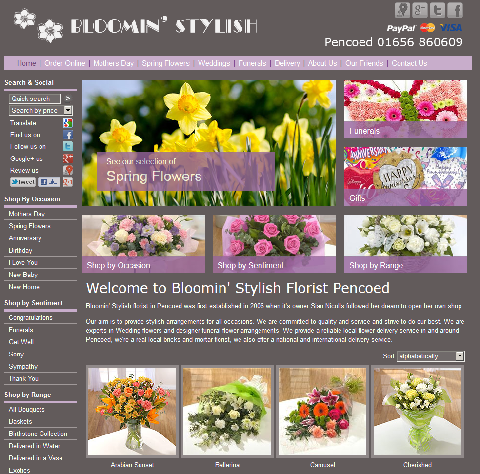 After A New Look Site For Bloomin Stylish In Pencoed Florist