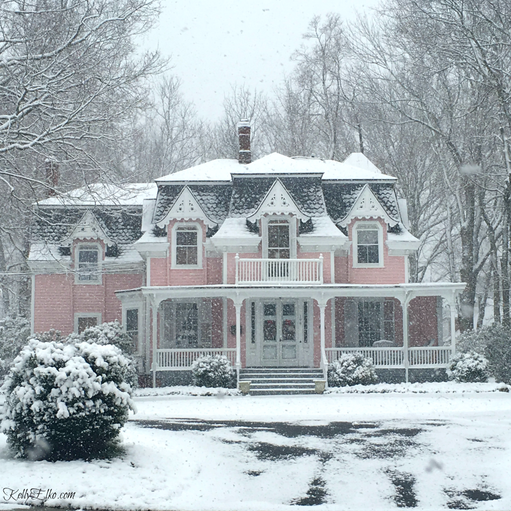 Beautiful pink Victorian house with curb appeal kellyelko.com ...