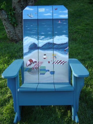 Beach Chair just add Flip Flop Chairwear Chairwearbythesea com AdirondackChair is part of Adirondack chairs painted -