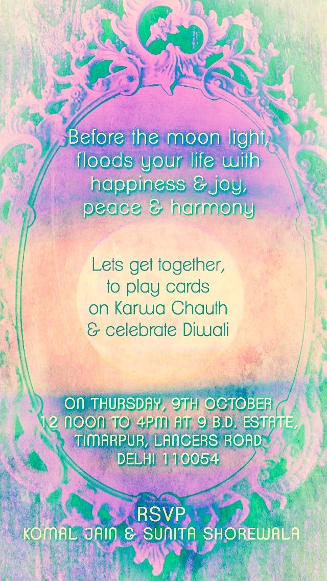 Karva chauth kitty party invites my work pinterest kitty party karva chauth kitty party stopboris Gallery