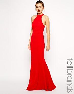 Jarlo Tall Halterneck Maxi Dress With Bow Back