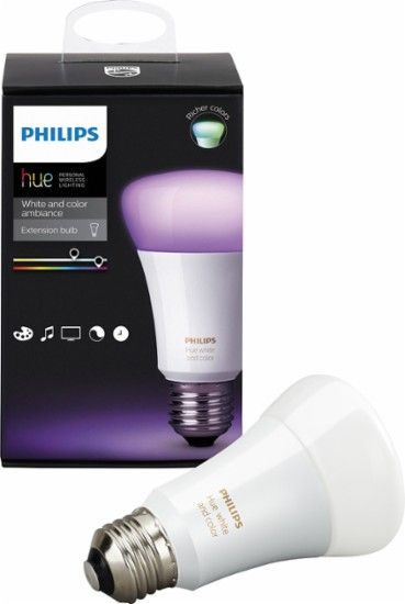 Philips Hue White And Color Ambiance A19 Add On Smart Led Bulb