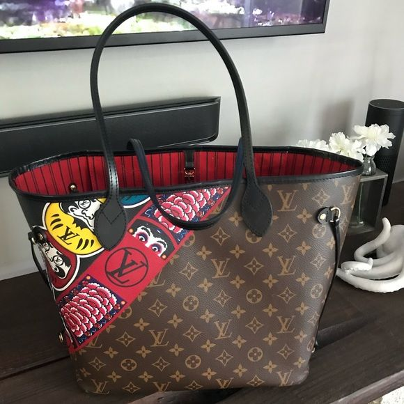 25861bfb5e LOUIS VUITTON LIMITED EDITION KABUKI NEVERFULL MM Neverfull MM limited  edition Monogram Kabuki . This bag has been Authenticated by Tradesy and  will also be ...