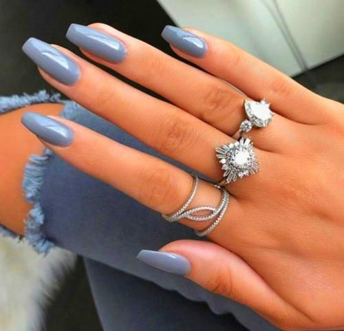 Grey Acrylic Nails – Christie's Personal Web Site