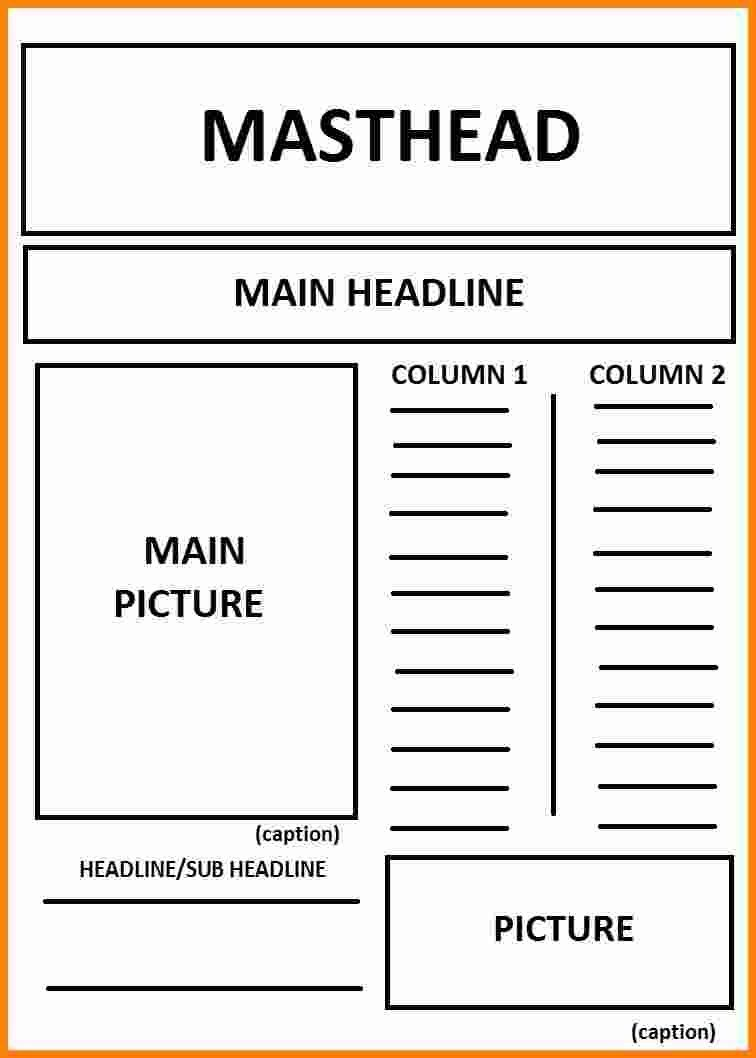 4 Layout Of A Newspaper Article Ledger Paper Intended For Newspaper Article Layout21856 Newspaper Template Newspaper Format Newspaper Template Design