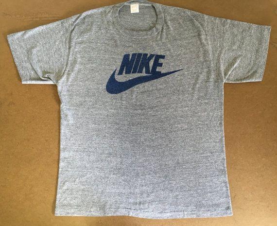 Reserved Nike Shirt 70 S Vintage Tri Blend Swoosh Super Etsy Nike Shirts Heather Grey Tshirt Shirts