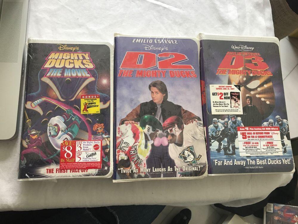 3 Walt Disney's Mighty Ducks VHS movie Tapes Factory