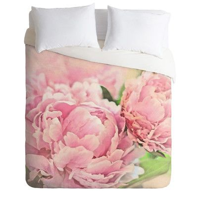 East Urban Home Lightweight Peonies Duvet Cover Collection