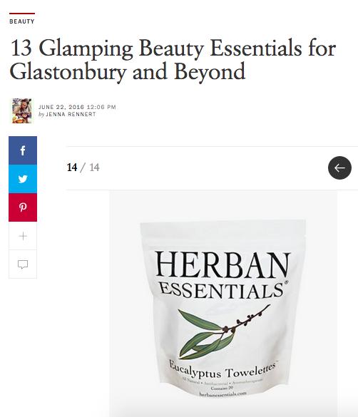 Camping Essentials// Vogue// Herban Essentials