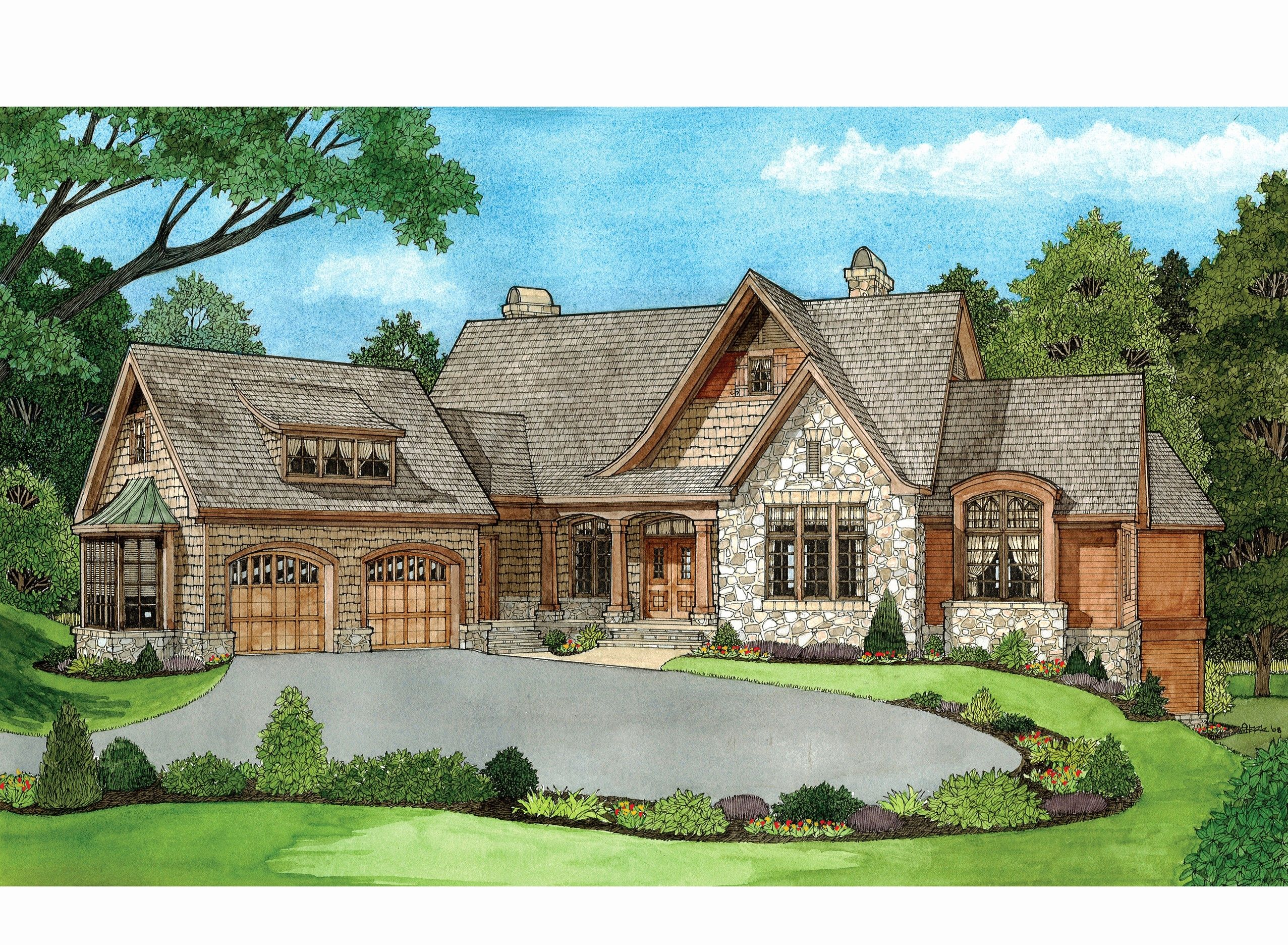 2 Story House Plans with Walkout Basement Best Of House Plans Walkout  Basement Floor Hillside F… | Sloping lot house plan, Basement house plans,  Cottage house plans