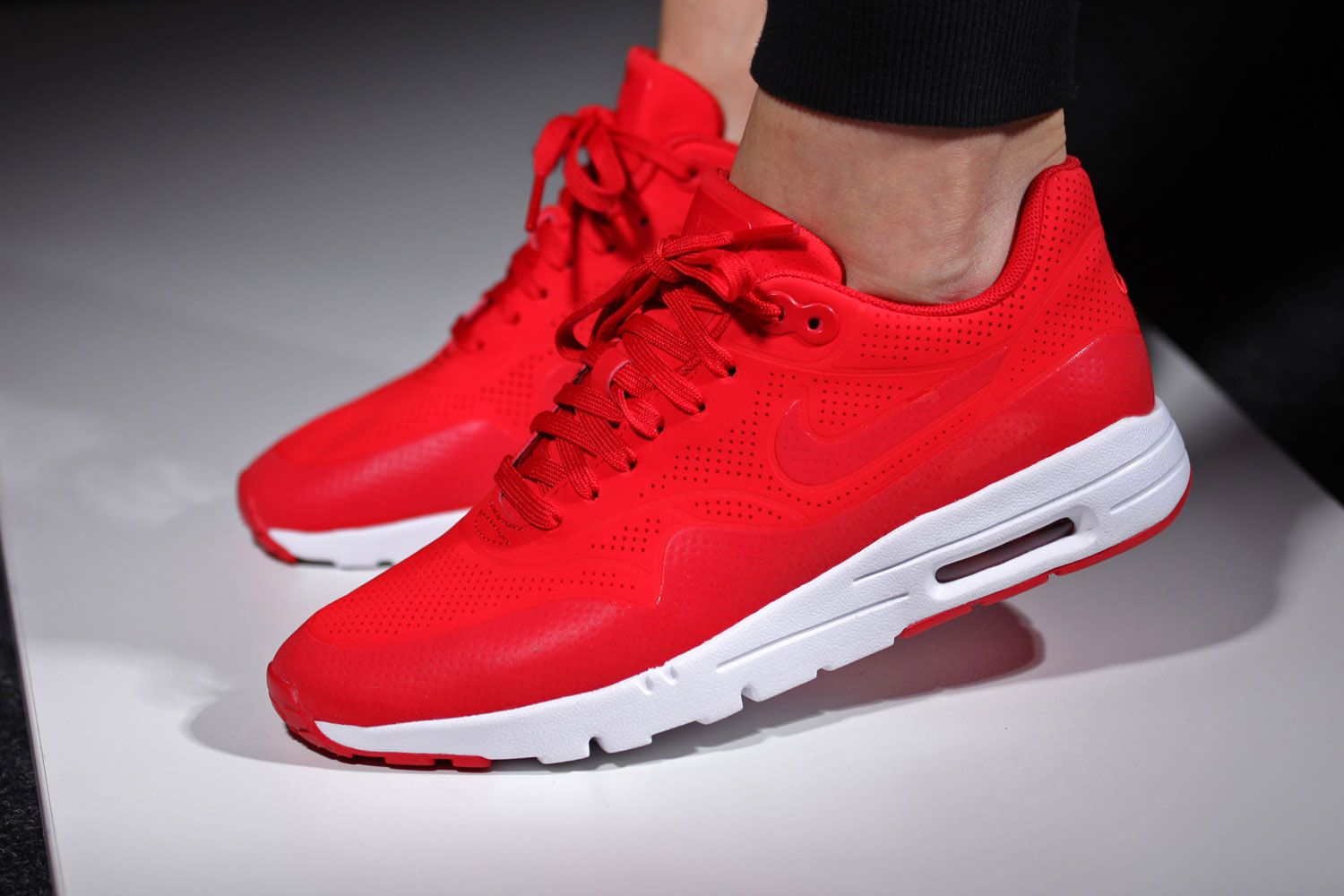 outlet store f36e6 c1e3f ... white womens running shoes. nike-air-max-1-ultra-moire-university-red-1
