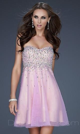 Baby doll Sweetheart Short Tulle Prom Dress