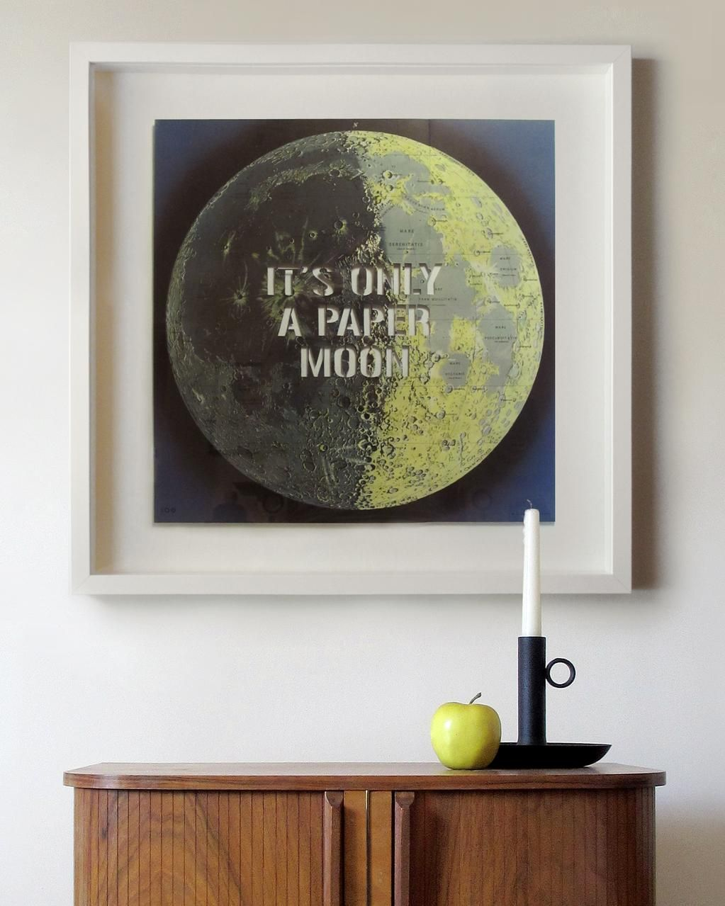 'It's only a paper moon'. For best results, hang over a cardboard sea. www.ree-doo.co.uk