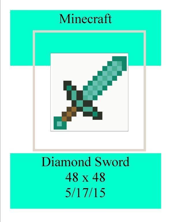 4) Name: \'Crocheting : Minecraft Diamond Sword 48 x 48   graphs that ...