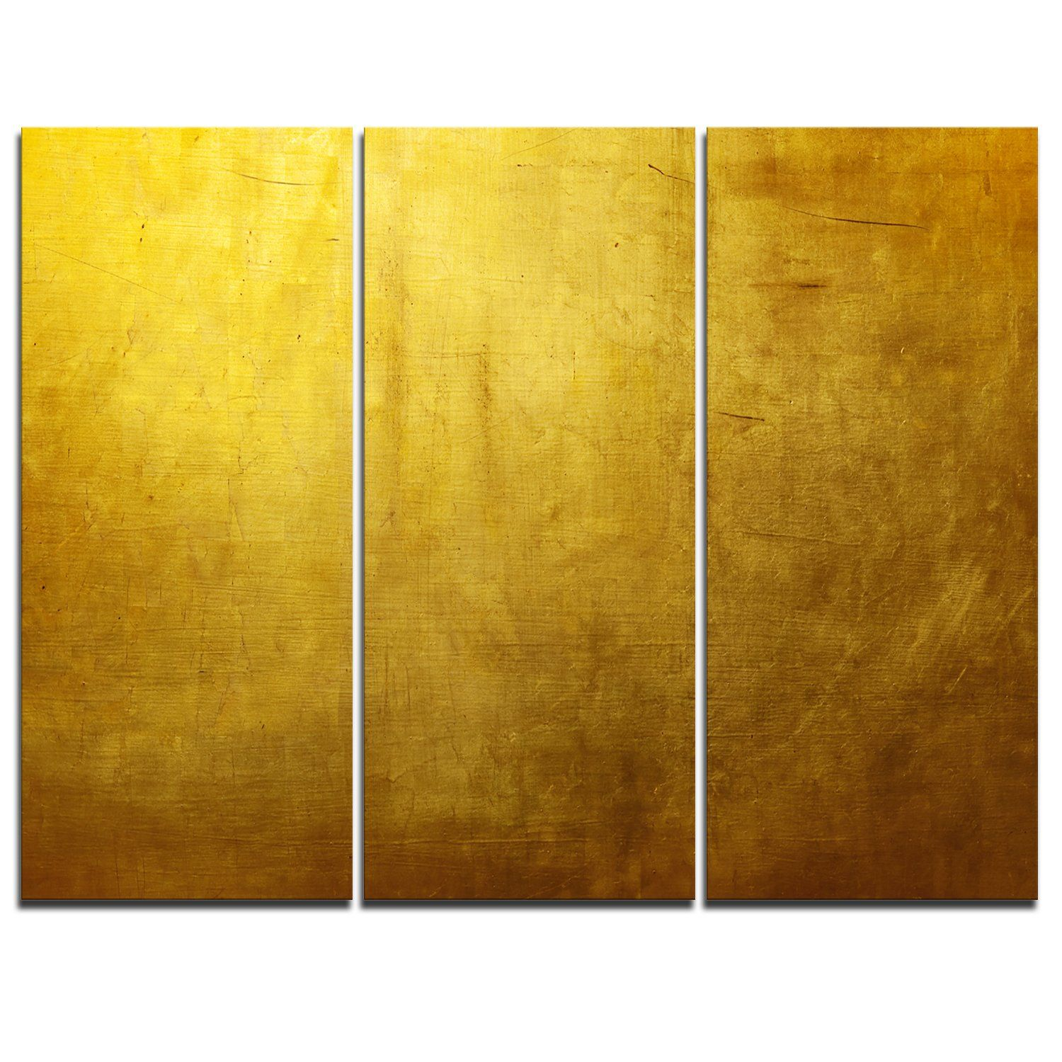 Gold Texture Wallpaper - 3 Piece Graphic Art on Wrapped Canvas Set ...