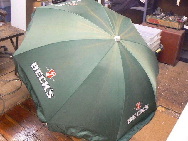 German Beer Garden Umbrellas Vintage Beck S Beer Key Patio Outdoor