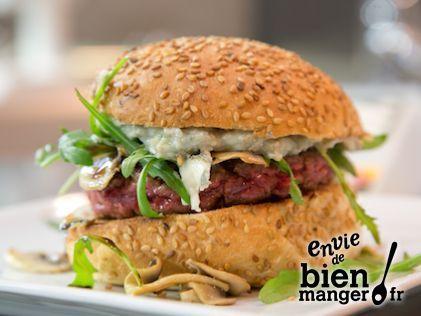 Burgers au roquefort et champignons Burgers au roquefort et champignons