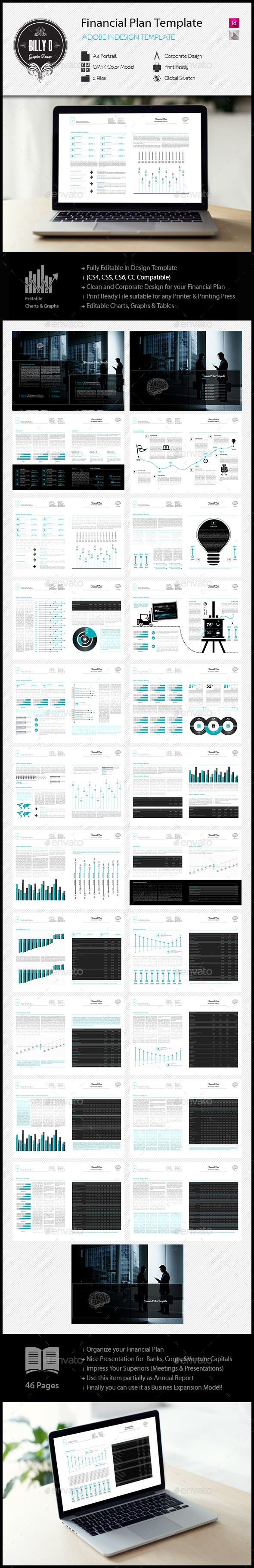 EFinancial Plan Template  Financial Plan Template Indesign