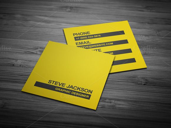 Smart Typography Business Card by FlowPixels on Creative Market