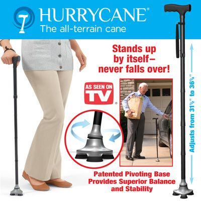 Hurrycane Adjustable Walking Cane Stands On It S Own Family Medical Medical Supplies Walking Canes