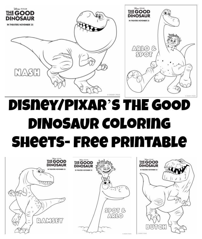The good dinosaur coloring sheets activities