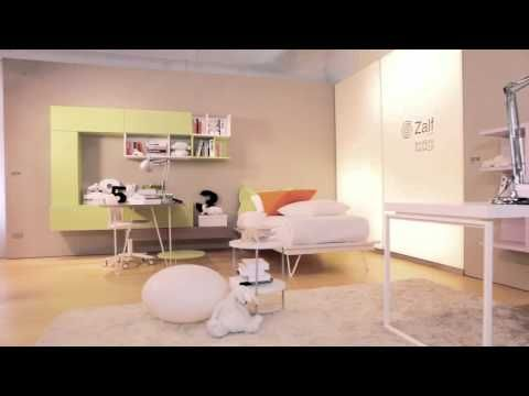 Camerette Zalf ~ Teenage bedroom with bridge wardrobe z by zalf lifestyle