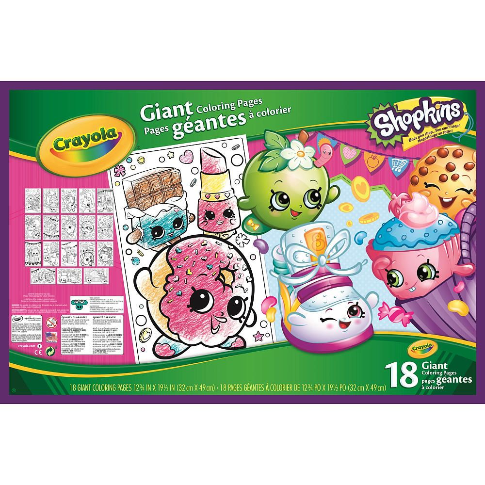 Crayola Shopkins Giant Coloring Book Br Ul Li Only Available At Toys R Us Li Br Li Color Your Favorite Shopkins F Coloring Books Crayola Coloring Stickers