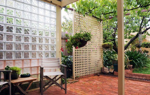 Backyard Ideas Block Wall Glassblock Landscape Concrete Blocks Landscape Design Block Ideas Gl Glass Blocks Wall Glass Blocks Landscaping Retaining Walls