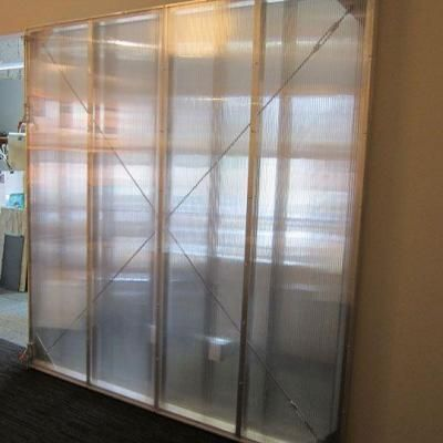 Lexan Thermoclear 48 In X 96 In X 1 4 In Clear Hammered Glass Multiwall Polycarbonate Sheet Pctw486hg The Home Depot Polycarbonate Divider Wall Wall Closet
