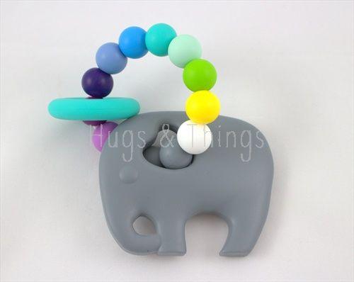 Bijtring / Chewing Toy: Grey Elephant