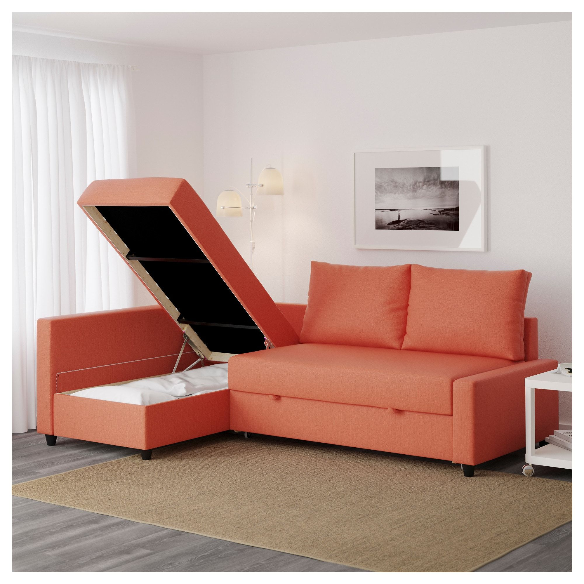 Canape Ikea Backabro 3 Places Friheten Sleeper Sectional 3 Seat W Storage Skiftebo Dark Orange