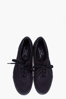 ba27603d595c68 COMME DES GARÇONS HOMME PLUS Black Canvas Sneakers