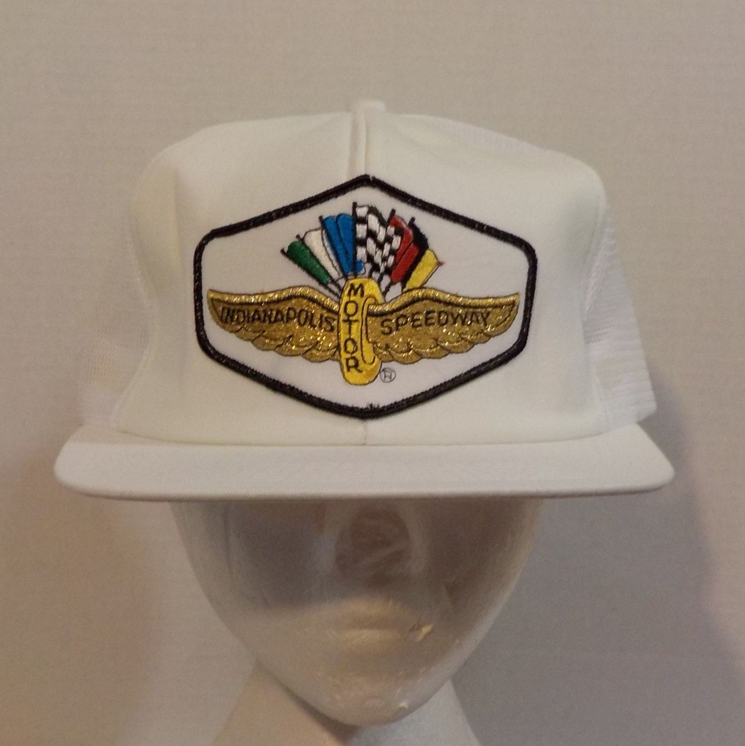 20d0ea1f9c2 Indianapolis Motor Speedway Snapback Baseball Truckers Cap Hat from the  eighty s Logo Patch by LouisandRileys on Etsy