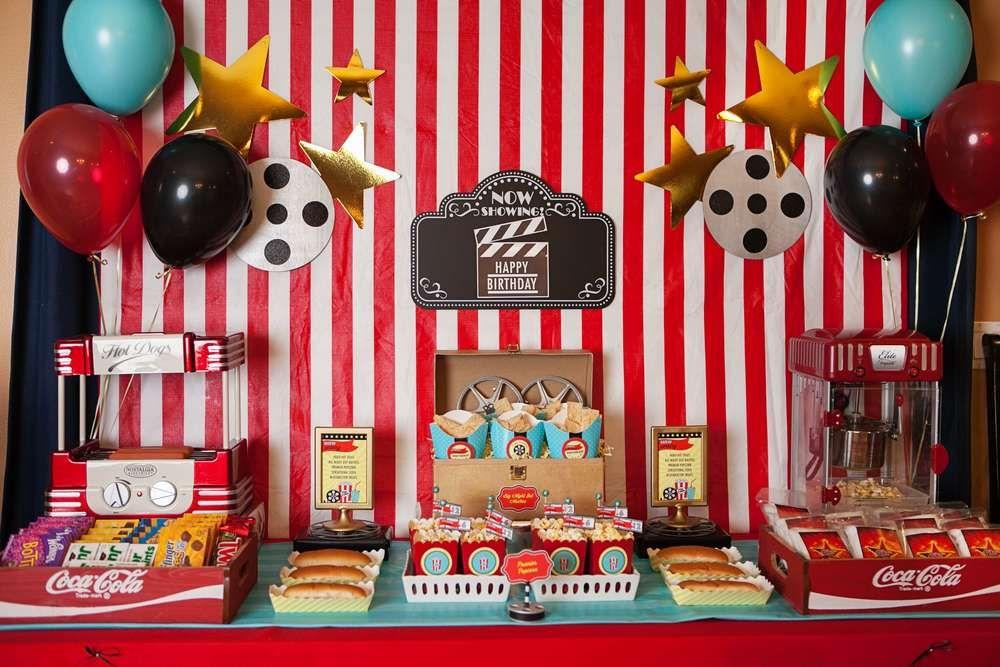 Hollywood Movie Birthday Party Ideas Photo 48 Of 118 Movie Birthday Party Movie Themed Party Birthday Party Themes