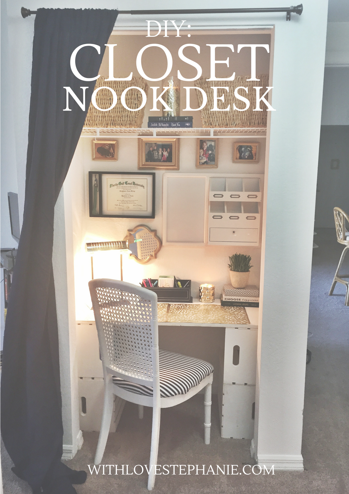 Turn your closet into a desk/workspace in 3 easy steps! & Turn your closet into a desk/workspace in 3 easy steps! | Crafts ...
