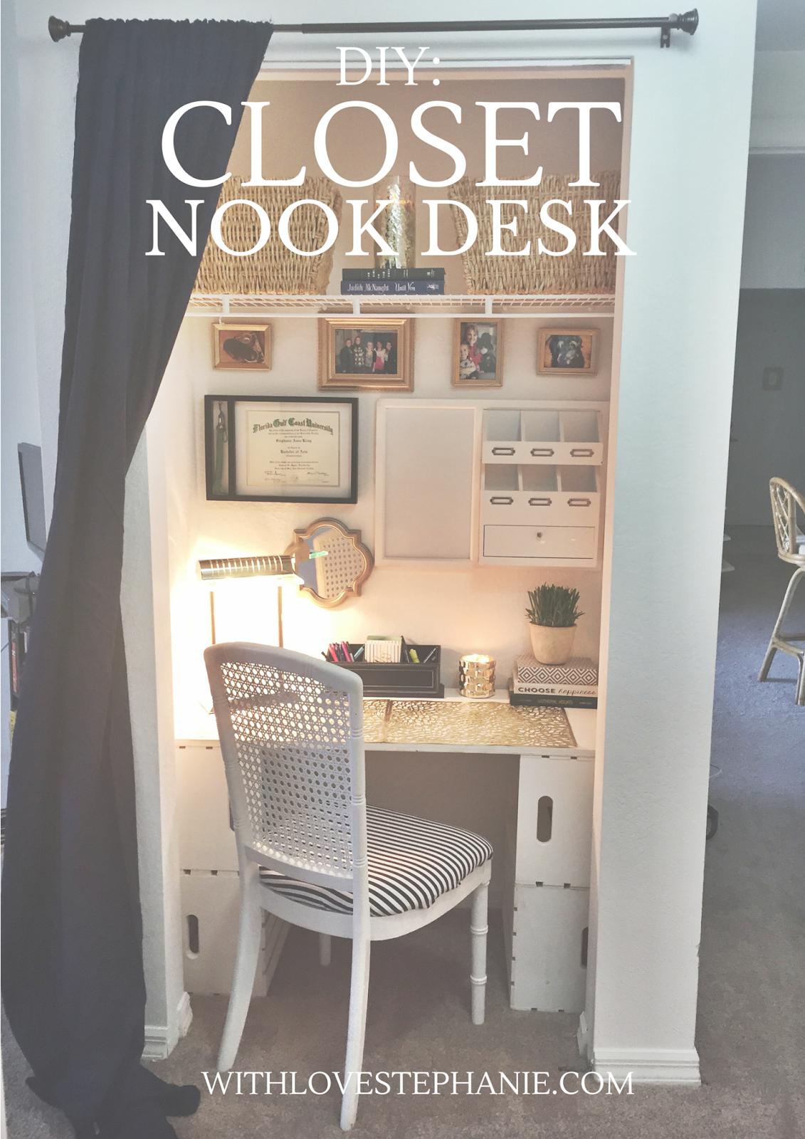 Desk In Closet Diy