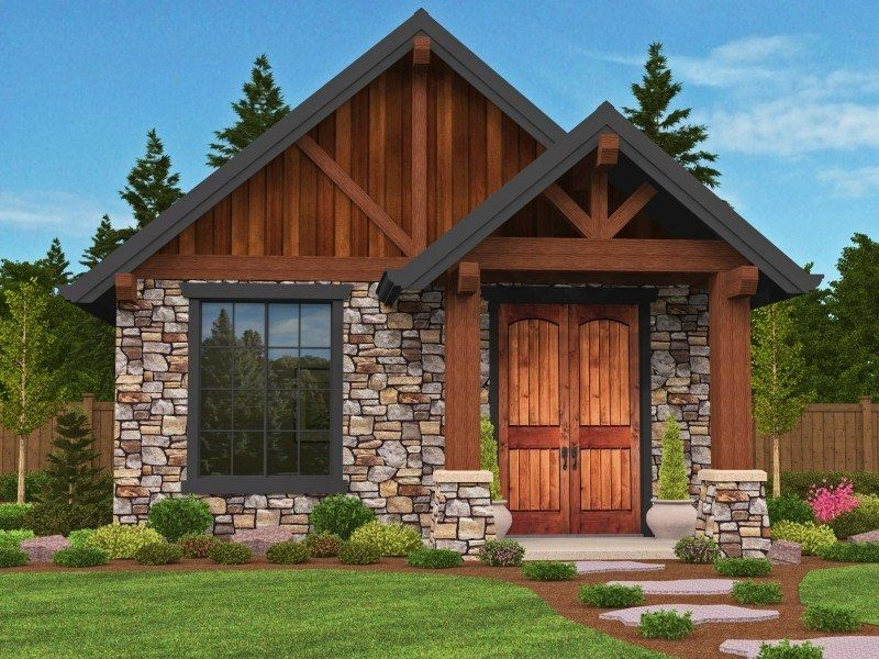 This Home Will Steal Your Heart Its Strong Cozy And Warm From The Outside In Guest Cottage House Plans With Photos Cottage House Plans