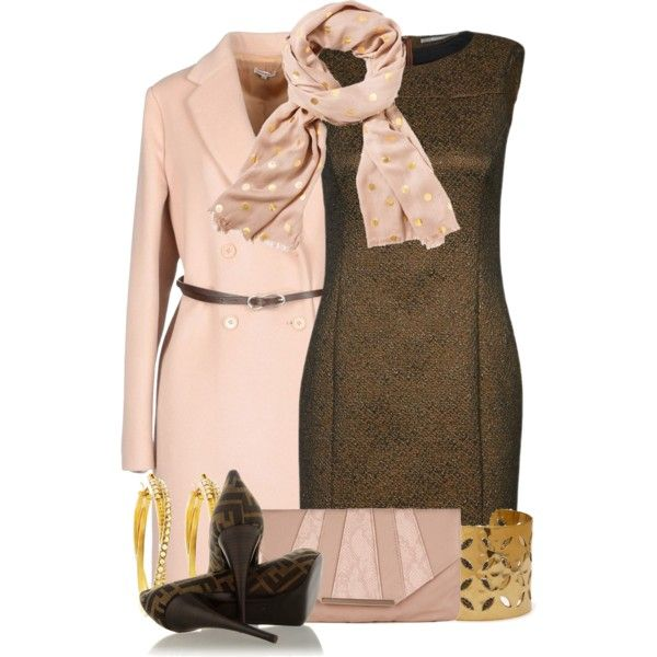 Pink Belted Jacket, created by colierollers on Polyvore