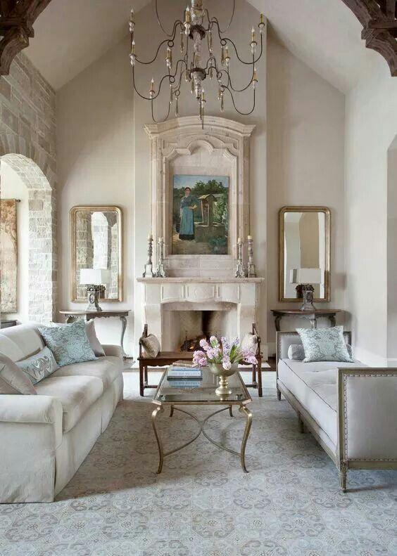 Französisches Landwohnzimmer, Land Französisch, Französisches Wohnzimmer,  Französisch Land Kamin, Französisch Kolonial, Wohnwagen Leben, Wohnräume,  ...