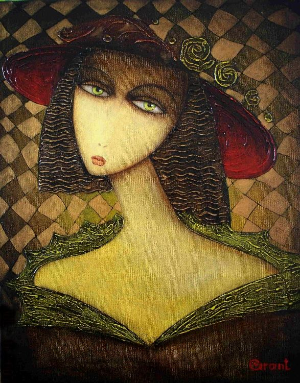 Взгляд - холст, масло, 50*40 - армянский художник Грант Сукиасян