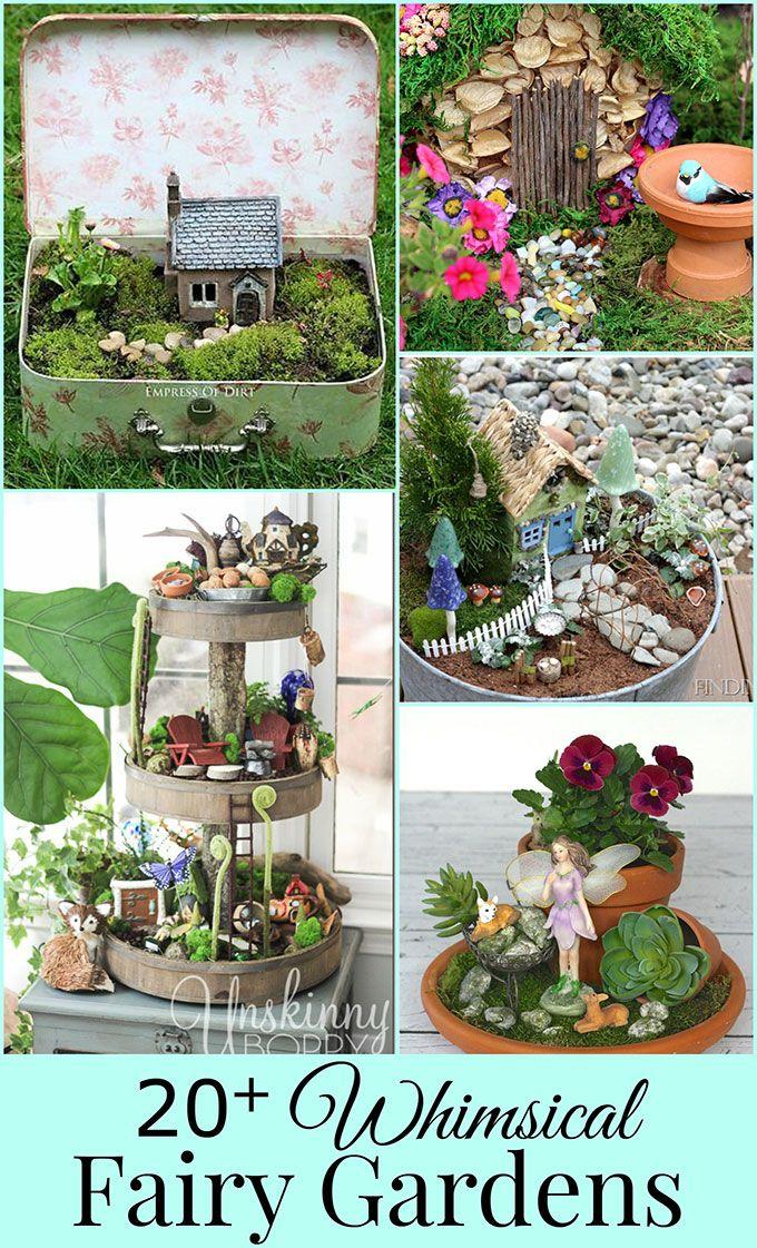 TONS of DIY fairy garden ideas including