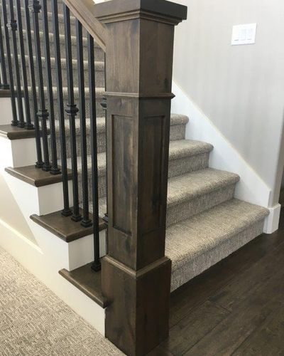 Beautiful Interior Staircase Ideas And Newel Post Designs: Columbia Millworks LLC