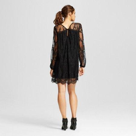 Target black lace shift dress