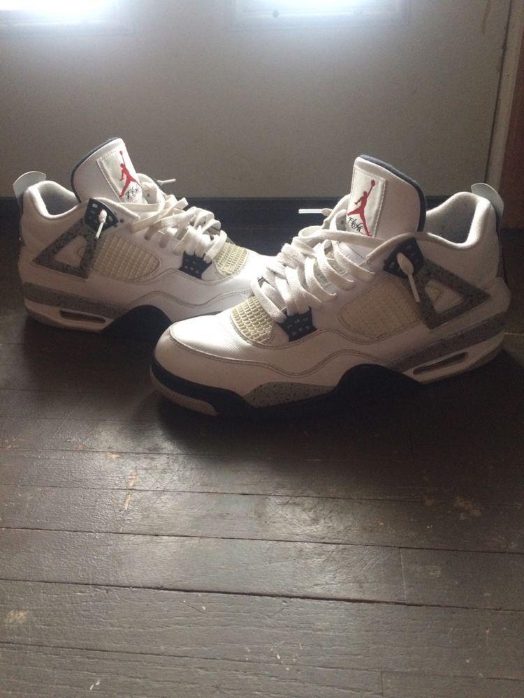 3cd4f360af80bd Jordan white cement 4s size 12 shoes  fashion  clothing  shoes  accessories   mensshoes  athleticshoes (ebay link)